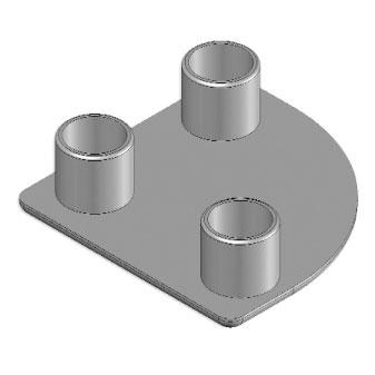 Cap 45x45 round