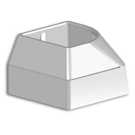 Cap for profile 45x45 handrail