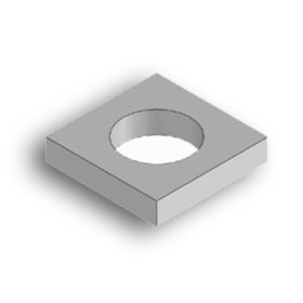 Square washer 10x10 with 6mm hole
