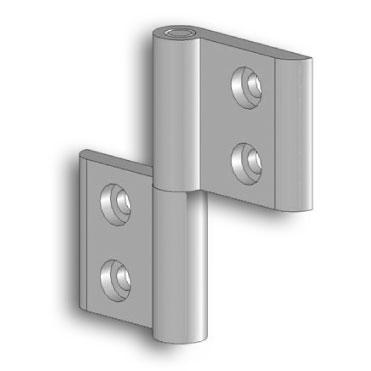 Aluminium hinges