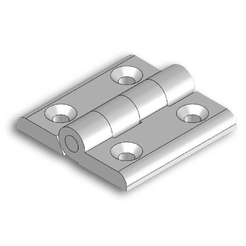 Aluminium hinge M5x20