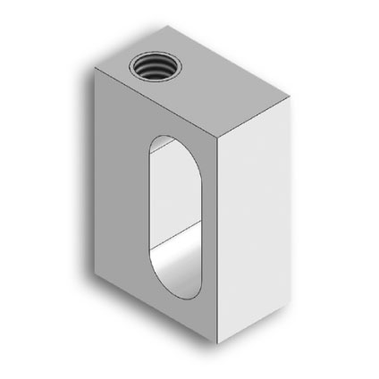 Adjustable fixing block